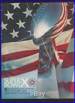 1976 NFL Super Bowl 10 Program Pittsburgh Steelers vs Dallas Cowboys EXMT