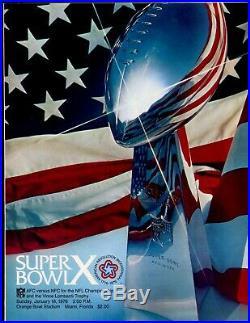 1976 NFL Super Bowl 10 Program Pittsburgh Steelers vs Dallas Cowboys NRMT