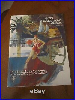 1976 Pitt Panthers National Champions Collection Media Guide Button Bowl Program