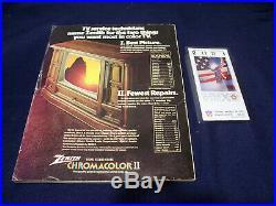 1976 Super Bowl 10 Program & Ticket Dallas Cowboys Vs Pittsburgh Steelers Vg/ex