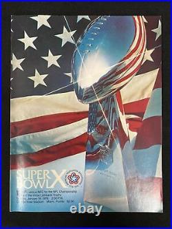 1976 Super Bowl X Football Program Steelers vs. Cowboys Orange Bowl Stadium