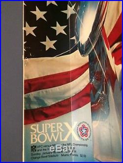 1976 Super Bowl X Steelers VS Cowboys Orange Bowl Ticket Stub & Game Program