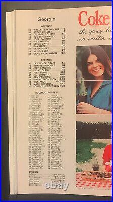 1977 43rd Annual Sugar Bowl Classic Football Game Program Pittsburgh vs Georgia