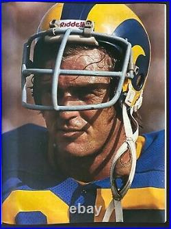 1980 NFL Football Super Bowl XIV Vtg Program Pittsburgh Steelers Beat LA Rams