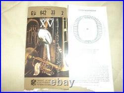 1981 Super Bowl XV ticket Stubs Oakland Raiders withOriginal Program and more