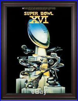 1982 49ers vs Bengals Framed 36 x 48 Canvas Super Bowl XVI Program Fanatics
