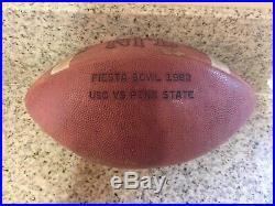 1982 Fiesta Bowl Usc & Penn St Game Used Football