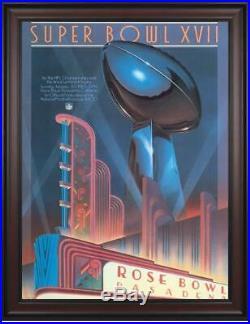 1983 Redskins vs Dolphins Framed 36x48 Canvas Super Bowl XVII Program Fanatics