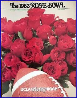 1983 Rose Bowl Game Football Program Michigan UCLA Schembechler Ramsey Donahue