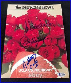 1983 Rose Bowl Program Signed By Schembechler Harbaugh & Carter Beckett COA