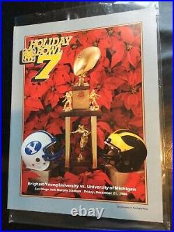 1984 Michigan Byu Holiday Bowl College Football Game Program Byu Champions