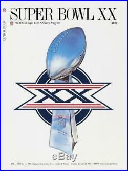 1986 Bears vs Patriots 36 x 48 Canvas Super Bowl XX Program Fanatics