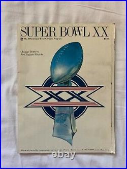 1986 Super Bowl XX Official Game Program Bears Vs Patriots New Orleans