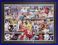 1991 Giants vs Bills Framed 36 x 48 Canvas Super Bowl XXV Program Fanatics