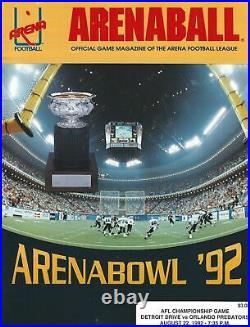 1992 Arena Bowl VI Program Detroit Drive vs Orlando Predators Football #FWIL