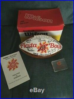 1992 Fiesta Bowl autographed football, program and lucite memorabilia
