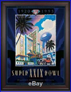 1995 49ers vs Chargers 36x48 Framed Canvas Super Bowl XXIX Program Fanatics