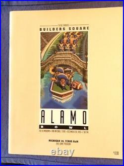 1995 Alamo Bowl Football Game Program University Michigan vs Texas A&M
