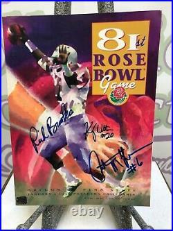 1995 Rose Bowl Program Signed Oregon Ducks COA Free Shipping