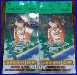 1996 Carquest Bowl Ticket Stubs Miami Hurricanes vs. Virginia Cavaliers Football