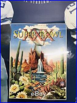 1996 Dallas Cowboys Super Bowl XXX Champs Starline Poster Emmitt Aikman Deion