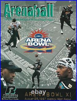 1997 Arena Bowl XI Program Kurt Warner Final Arena Football League Game! #FWIL