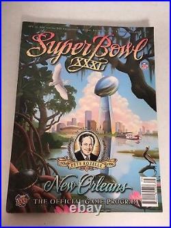 1997 Super Bowl XXXI New Orleans Game Program Pete Rozelle Afc Vs. Nfc