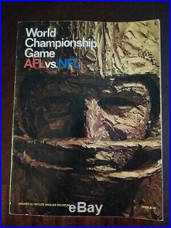 1st Super Bowl Chiefs Vs Packers Program January 15, 1967 GOOD CONDITION