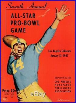 2 1957 All Star Pro Bowl Programs LA Coliseum