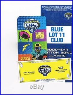 2 Loge Tickets Parking Program Cotton Bowl 12/28/19 AT&T Stadium Arlington, TX