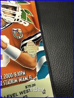 2000 Orange Bowl Ticket Stub Tom Brady Final Collegiate Game + Program & Patch
