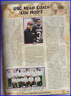 2001 Outback Bowl football program South Carolina 24 vs. Ohio State 7 Ryan Brewer