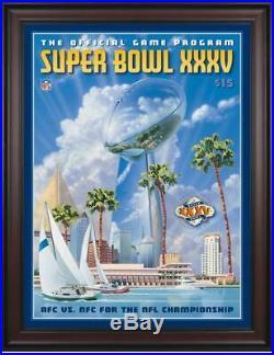 2001 Ravens vs Giants Framed 36 x 48 Canvas Super Bowl XXXV Program Fanatics