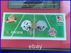 2003 Ohio State Football Fiesta Bowl Custom Framed Program & Postmarked Envelope