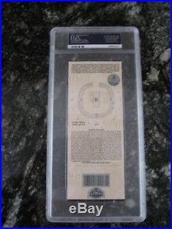 2003 Super Bowl XXXVII (37) Full Ticket PSA NM-MT 8 Raiders Lavender withProgram