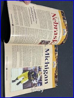 2005 Alamo Bowl Football Program Michigan vs Nebraska Rare