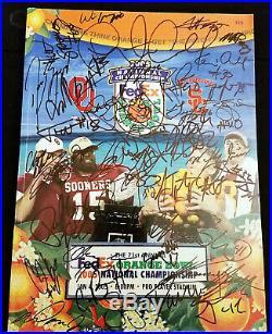 2005 OKLAHOMA SOONERS Team Signed Autographed FedEx Orange Bowl Program