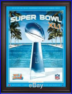 2007 Colts vs Bears Framed 36 x 48 Canvas Super Bowl XLI Program Fanatics