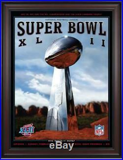 2008 Giants vs Patriots Framed 36x48 Canvas Super Bowl XLII Program Fanatics