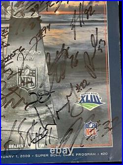 2008 Pittsburgh Steelers Team Signed Super Bowl XLIII (43) Football Program
