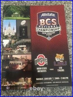 2008 SUGAR BOWL/ BCS Championship Football Program-OHIO STATE-LSU TIGERS NEW