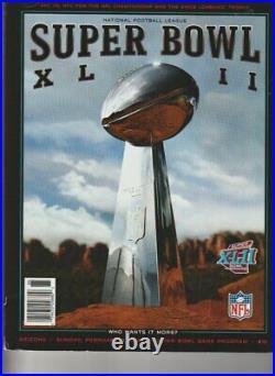 2008 Super Bowl XLII Program(KL479)