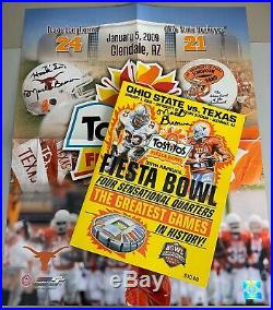 2009 FIESTA BOWL Texas Longhorn Football MACK BROWN AUTOGRAPHED Poster & Program