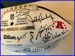 2009 NFL AFC Hawaii Pro Bowl Signed Autographed Football Manning LOA with Program
