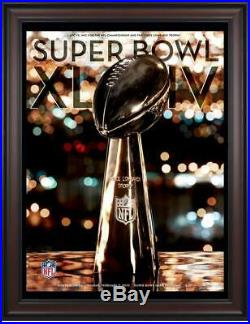 2010 Saints vs Colts Framed 36 x 48 Canvas Super Bowl XLIV Program Fanatics