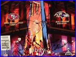 2012 Baltimore Ravens Team Signed Autographed Football Program! Super Bowl XLVII