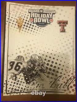 2013 Arizona State University ASU vs Texas Tech Holiday Bowl football program