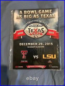 2015 LSU Vs. TX Advocare Texas Bowl Football Program