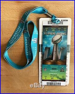 2017 Super Bowl LI 51 Authentic Ticket & Lanyard (Patriots/Falcons/Brady)