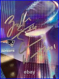2018 Super Bowl 52 Eagles vs Patriots Program Auto Carson Wentz Zach Ertz Signed